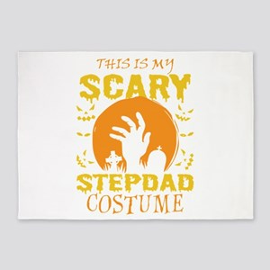 This Is My Scary Stepdad Costume Ha 5'x7'Area Rug