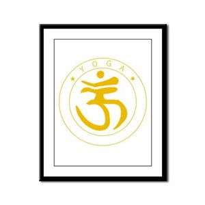 Yoga Framed Panel Print