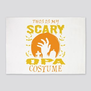 This Is My Scary Opa Costume Hallow 5'x7'Area Rug