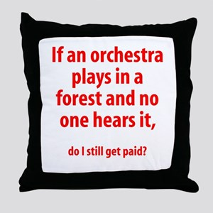 Orchestra in a Forest Throw Pillow