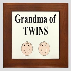 Grandma of Twins Boy/Boy Framed Tile