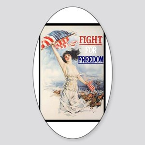 Fight For Freedom Oval Sticker