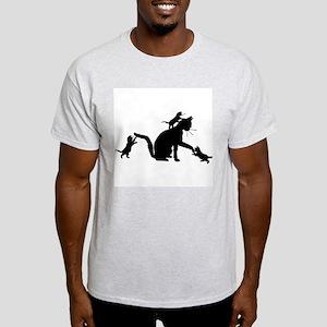 Cat and Kittens Light T-Shirt