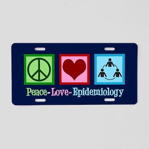 Epidemiology Aluminum License Plate