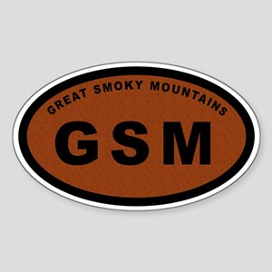 GSM-Great Smoky Mountains Oval Sticker
