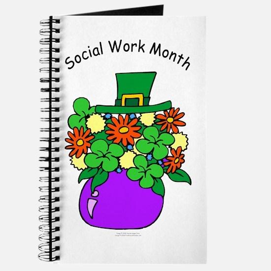 Social Work Month Vase Journal