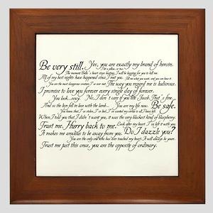 Edward Cullen Quotes Framed Tile