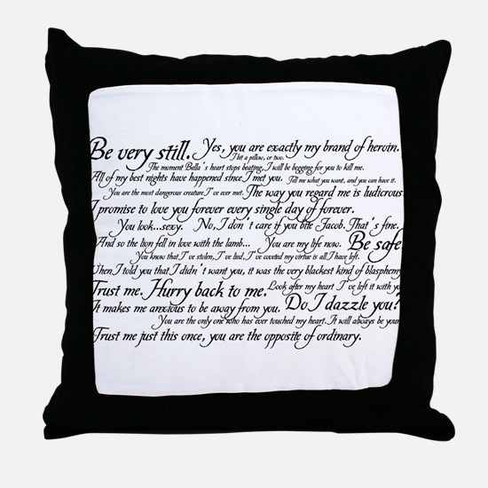 Edward Cullen Quotes Throw Pillow