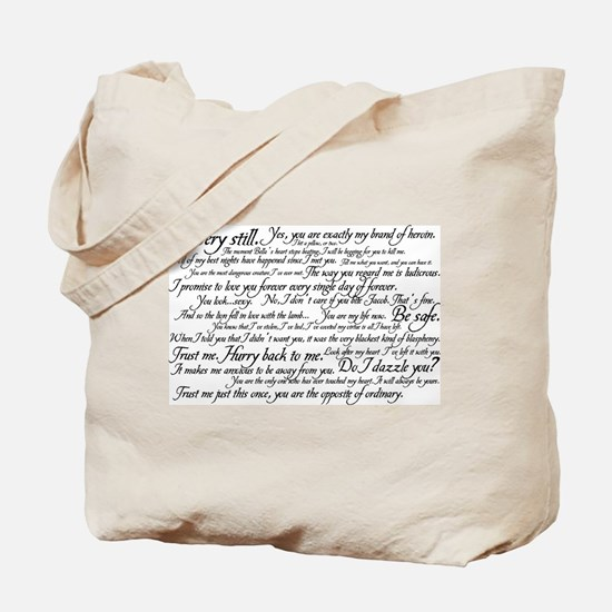 Edward Cullen Quotes Tote Bag