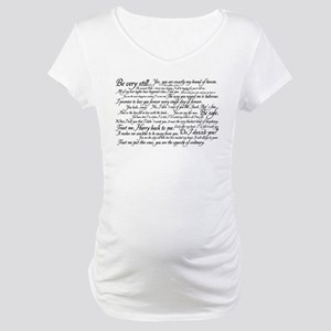 Edward Cullen Quotes Maternity T-Shirt