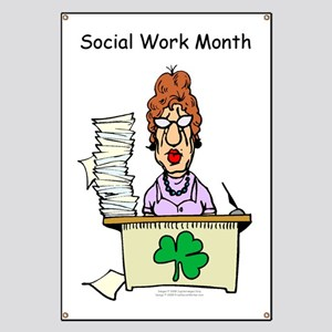 Social Work Month Desk Banner