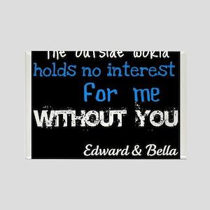 Edward & Bella Rectangle Magnet