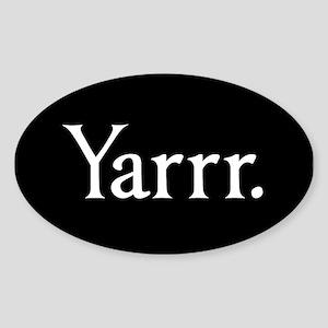 Yarrr Pirate Oval Sticker