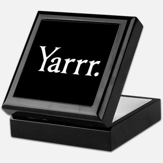 Yarrr Pirate Keepsake Box