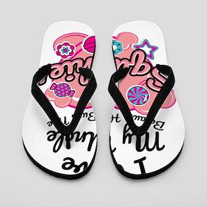 e5ba560af4c Cute Squishy design Gift - Girls Love U Flip Flops