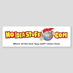 No Idea bumper sticker