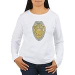 Stockton Police Badge Women's Long Sleeve T-Shirt