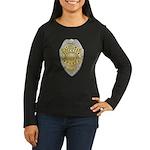 Stockton Police Badge Women's Long Sleeve Dark T-S