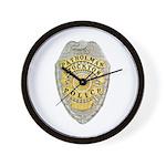 Stockton Police Badge Wall Clock