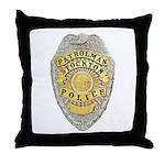 Stockton Police Badge Throw Pillow