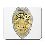 Stockton Police Badge Mousepad