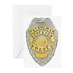 Stockton Police Badge Greeting Cards (Pk of 20)