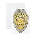 Stockton Police Badge Greeting Card
