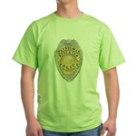 Stockton Police Badge Green T-Shirt