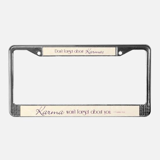 KARMA - License Plate Frame