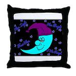 Sleepy Moonlight Throw Pillow