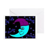 Sleepy Moonlight Greeting Card