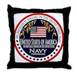 Navy Brother Throw Pillow