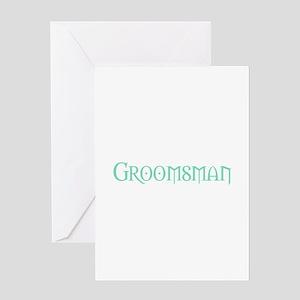 Green Morpheus Groomsman Greeting Card