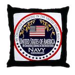 Navy Daughter Throw Pillow