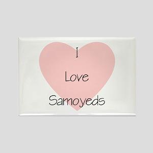 I Love Samoyeds Rectangle Magnet