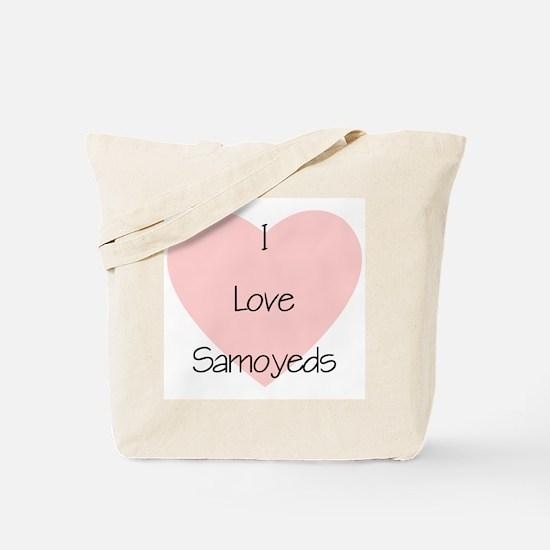 I Love Samoyeds Tote Bag
