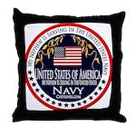 Navy Nephew Throw Pillow