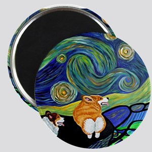 Corgi Starry Starry Night Magnet