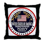 Navy Active Duty Throw Pillow