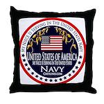 Navy Niece Throw Pillow