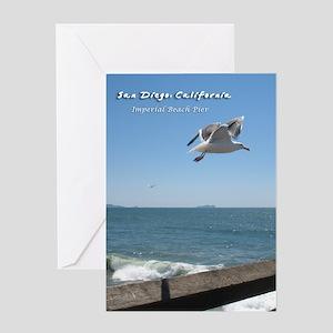Imperial Beach Pier, San Diego Greeting Card