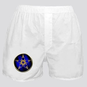 Pentagram with Inverted Star Boxer Shorts