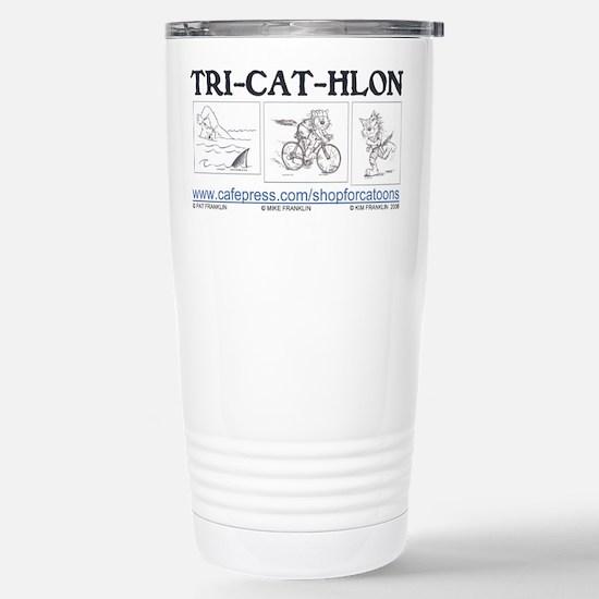 CatoonsT TRI-CAT-HLONT Cat Stainless Steel Travel