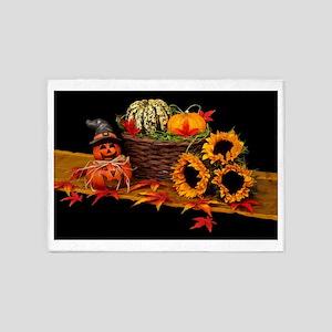 Spooky Scary Halloween Holiday Desi 5'x7'Area Rug