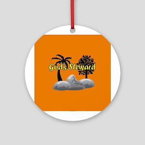 God's Steward Ornament (Round)
