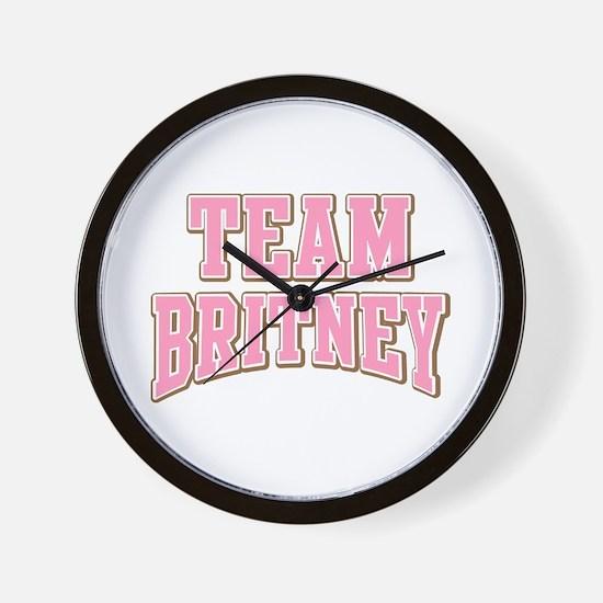 Team Britney Personalized Custom Wall Clock