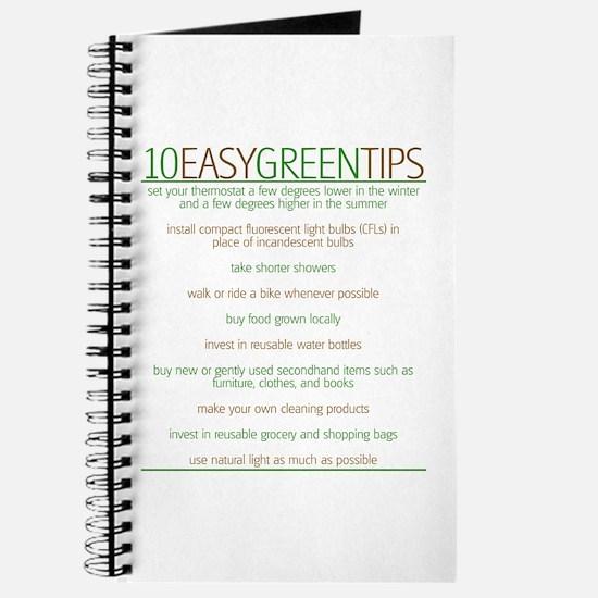 Environmentalist Go Green Tip Journal
