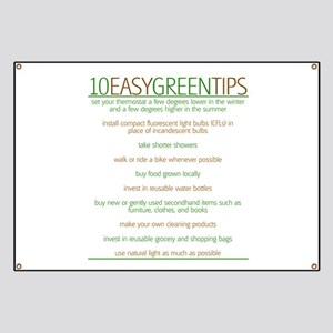 Environmentalist Go Green Tip Banner