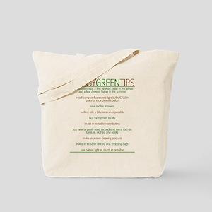 Environmentalist Go Green Tip Tote Bag