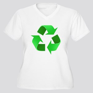 Environmentalist Go Green Tip Women's Plus Size V-